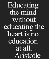 Educating mind and heart quote